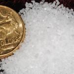 Crystals of Australian lake salt.